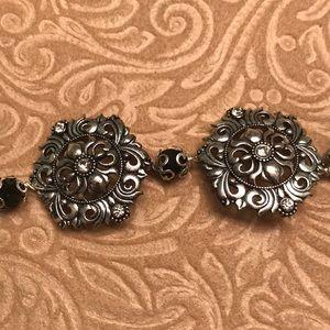 Bohemian Hand Made Silver Crystal Bracelet